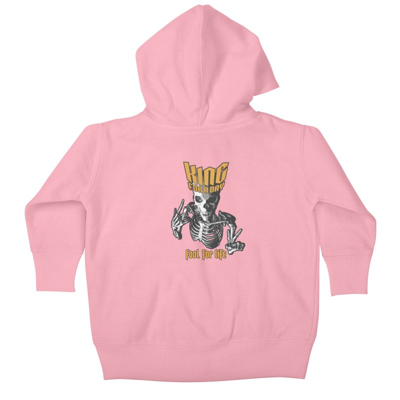 King For A Day Skull Kids Baby Zip-Up Hoody by Grandio Design Artist Shop