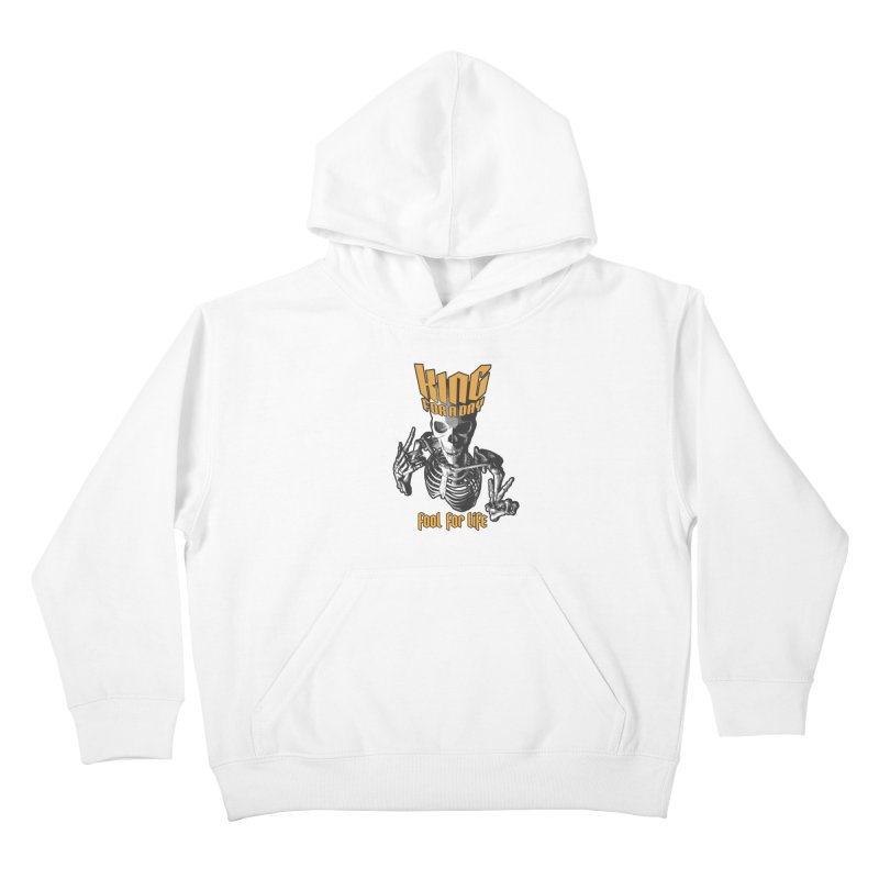 King For A Day Skull Kids Pullover Hoody by Grandio Design Artist Shop