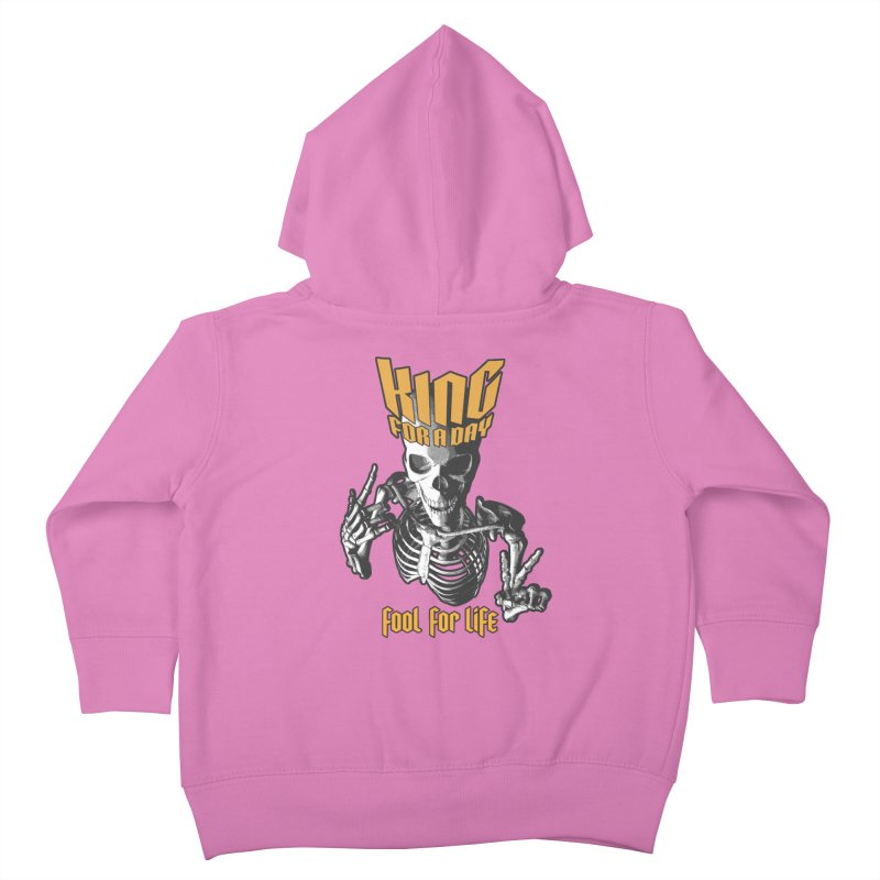 King For A Day Skull Kids Toddler Zip-Up Hoody by Grandio Design Artist Shop