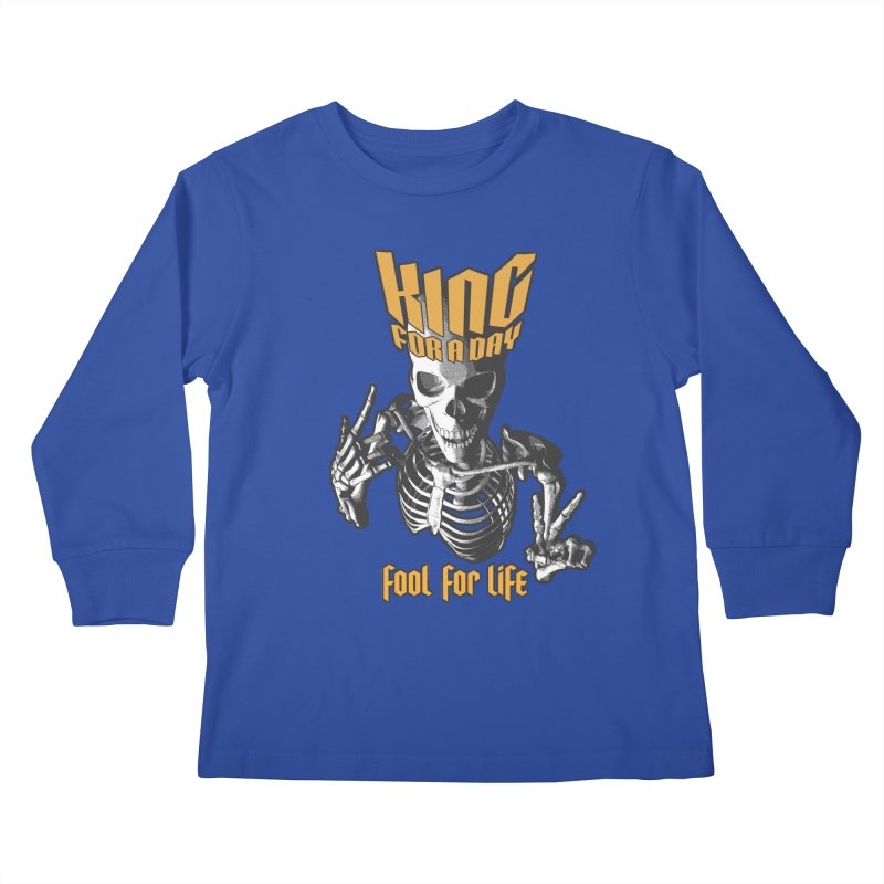 King For A Day Skull Kids Longsleeve T-Shirt by Grandio Design Artist Shop