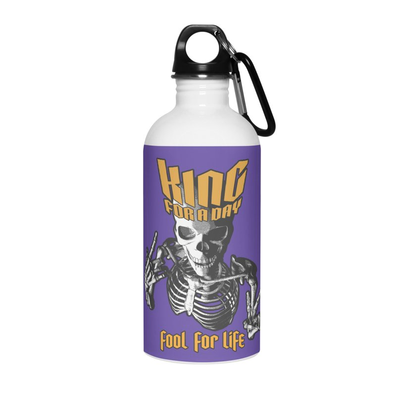 King For A Day Skull Accessories Water Bottle by Grandio Design Artist Shop