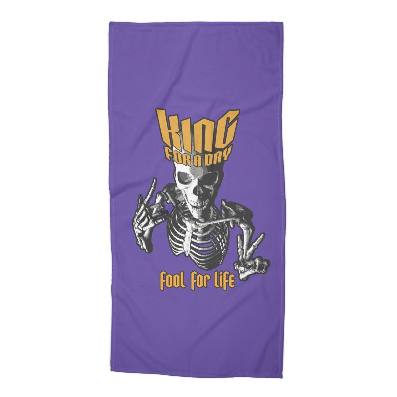 King For A Day Skull Accessories Beach Towel by Grandio Design Artist Shop