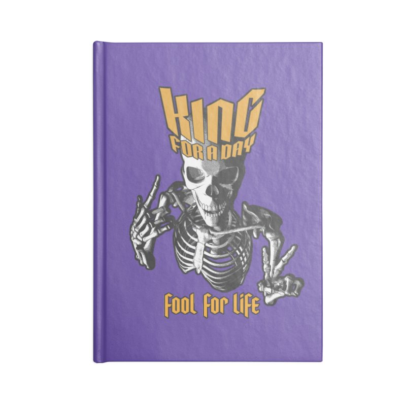 King For A Day Skull Accessories Notebook by Grandio Design Artist Shop