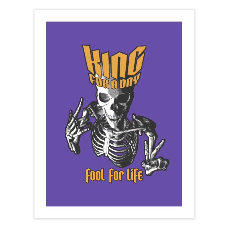 King For A Day Skull Home Fine Art Print by Grandio Design Artist Shop