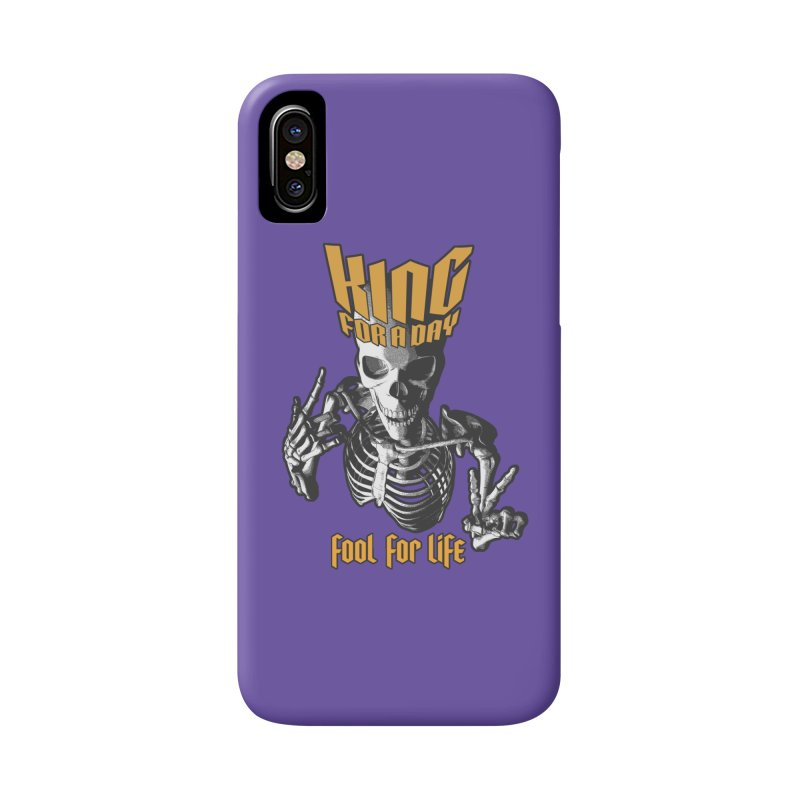 King For A Day Skull Accessories Phone Case by Grandio Design Artist Shop