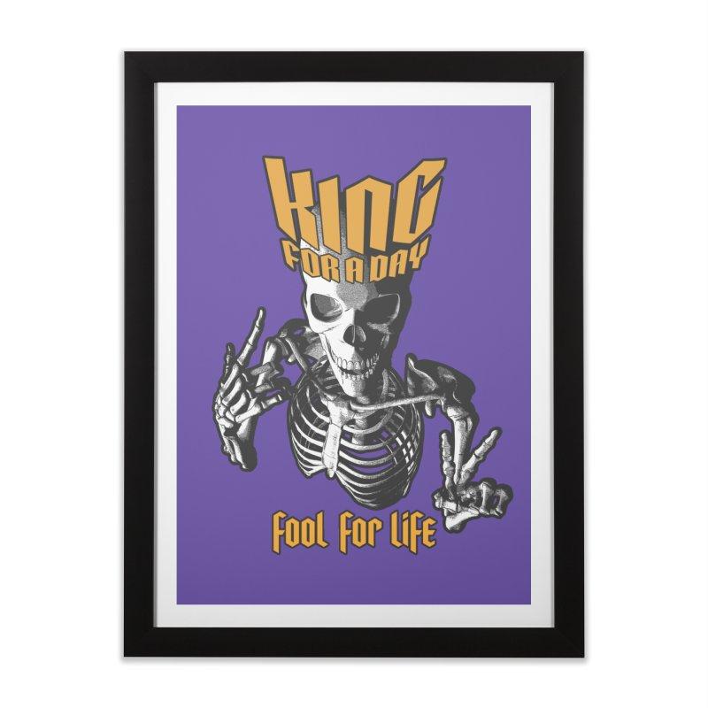King For A Day Skull Home Framed Fine Art Print by Grandio Design Artist Shop