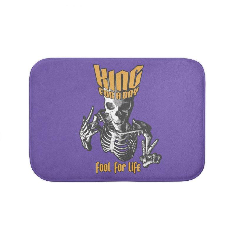 King For A Day Skull Home Bath Mat by Grandio Design Artist Shop