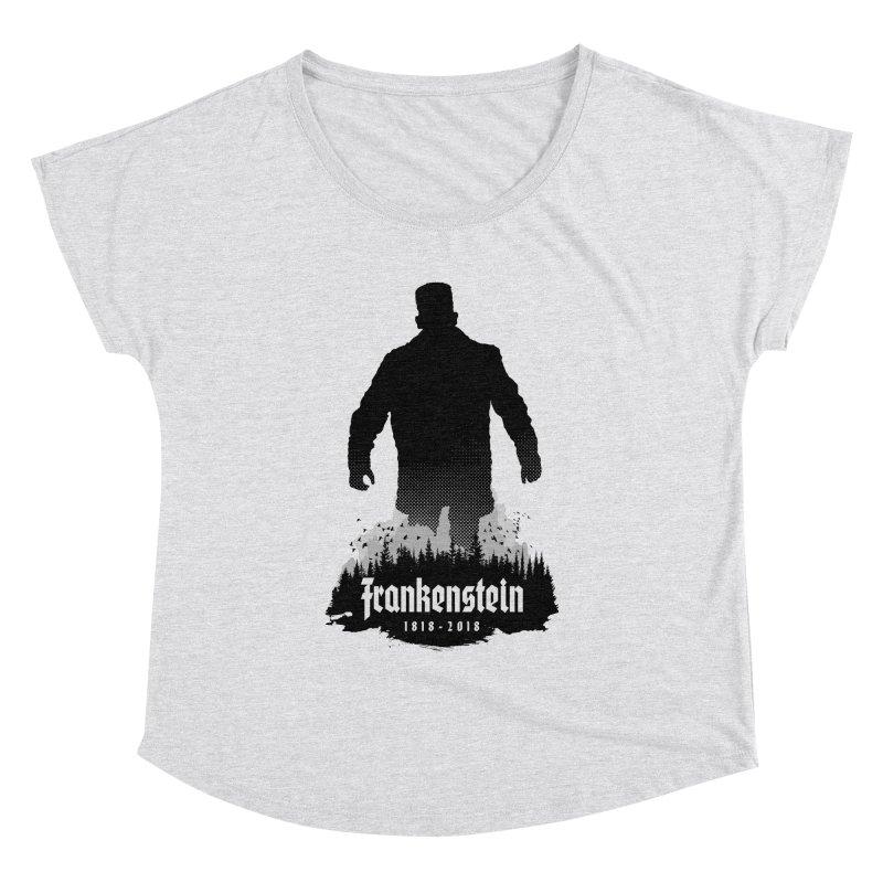 Frankenstein 1818-2018 - 200th Anniversary Women's Dolman Scoop Neck by Grandio Design Artist Shop