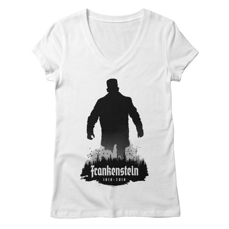 Frankenstein 1818-2018 - 200th Anniversary Women's Regular V-Neck by Grandio Design Artist Shop