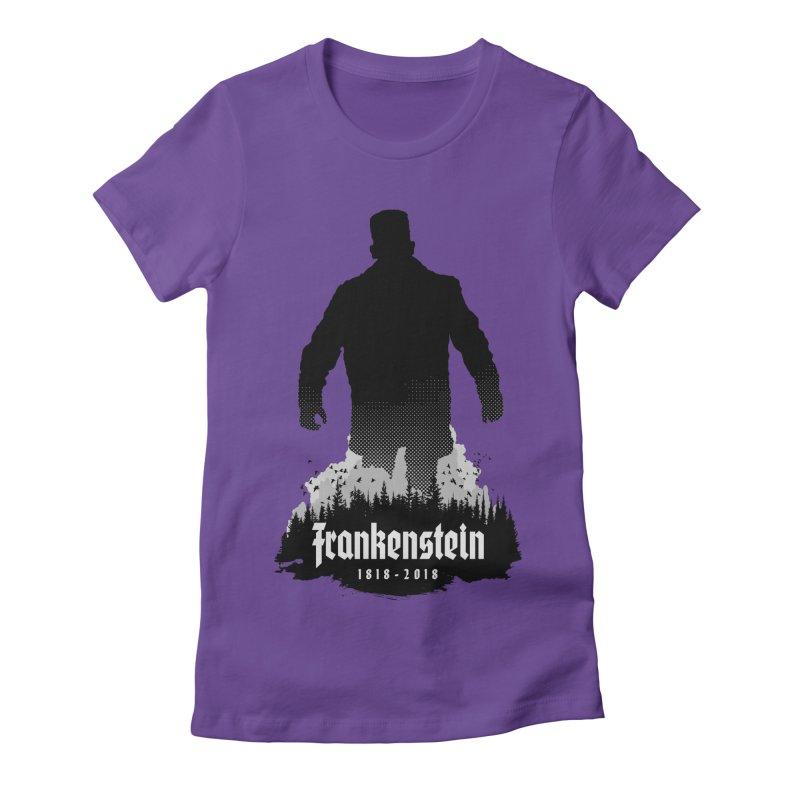 Frankenstein 1818-2018 - 200th Anniversary Women's Fitted T-Shirt by Grandio Design Artist Shop
