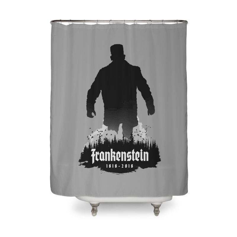 Frankenstein 1818-2018 - 200th Anniversary Home Shower Curtain by Grandio Design Artist Shop