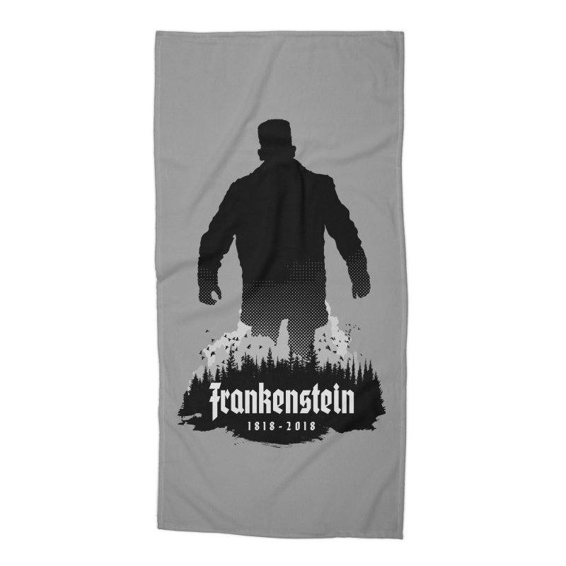 Frankenstein 1818-2018 - 200th Anniversary Accessories Beach Towel by Grandio Design Artist Shop