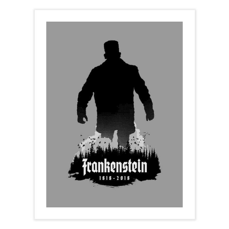 Frankenstein 1818-2018 - 200th Anniversary Home Fine Art Print by Grandio Design Artist Shop