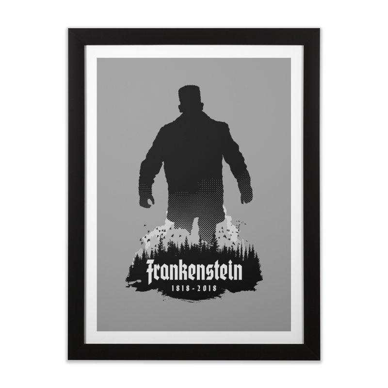 Frankenstein 1818-2018 - 200th Anniversary Home Framed Fine Art Print by Grandio Design Artist Shop