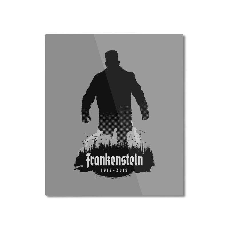 Frankenstein 1818-2018 - 200th Anniversary Home Mounted Aluminum Print by Grandio Design Artist Shop