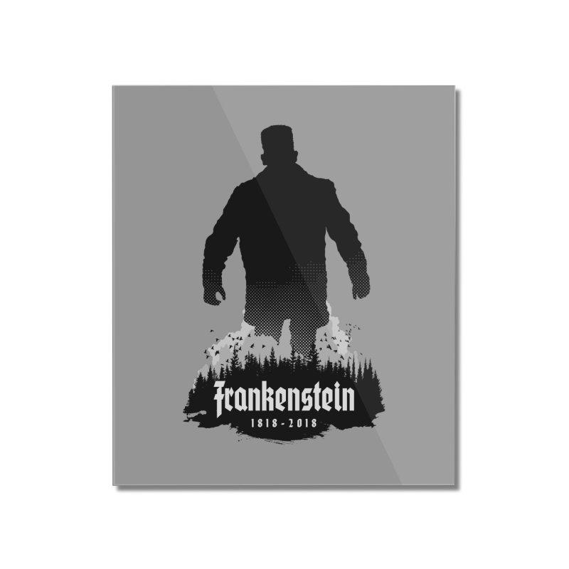 Frankenstein 1818-2018 - 200th Anniversary Home Mounted Acrylic Print by Grandio Design Artist Shop
