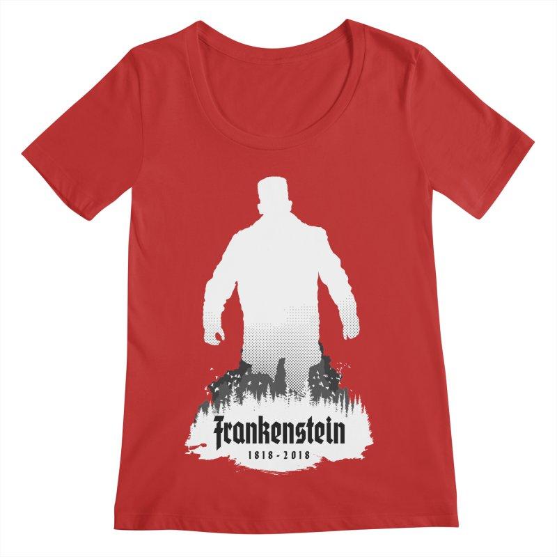 Frankenstein 1818-2018 - 200th Anniversary INV Women's Regular Scoop Neck by Grandio Design Artist Shop