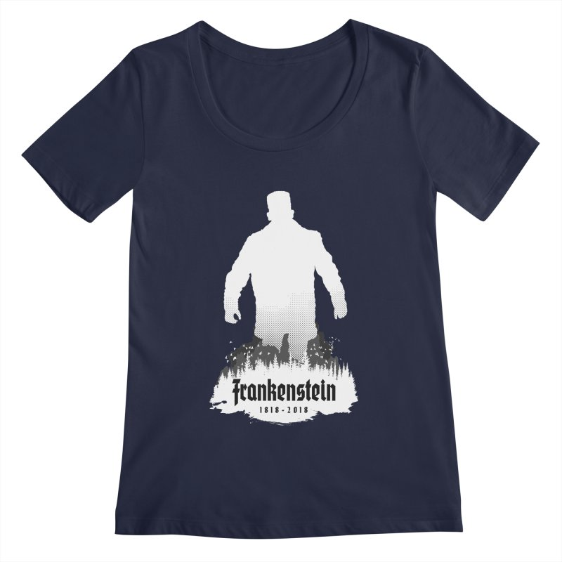 Frankenstein 1818-2018 - 200th Anniversary INV Women's Regular Scoop Neck by Grandio Design Artist Shop