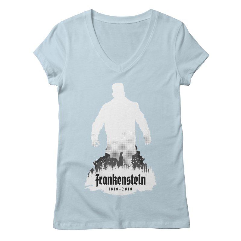 Frankenstein 1818-2018 - 200th Anniversary INV Women's Regular V-Neck by Grandio Design Artist Shop