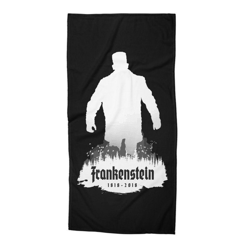 Frankenstein 1818-2018 - 200th Anniversary INV Accessories Beach Towel by Grandio Design Artist Shop