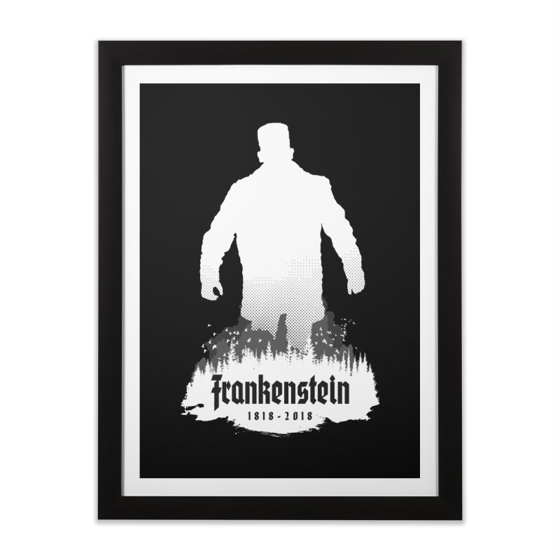 Frankenstein 1818-2018 - 200th Anniversary INV Home Framed Fine Art Print by Grandio Design Artist Shop
