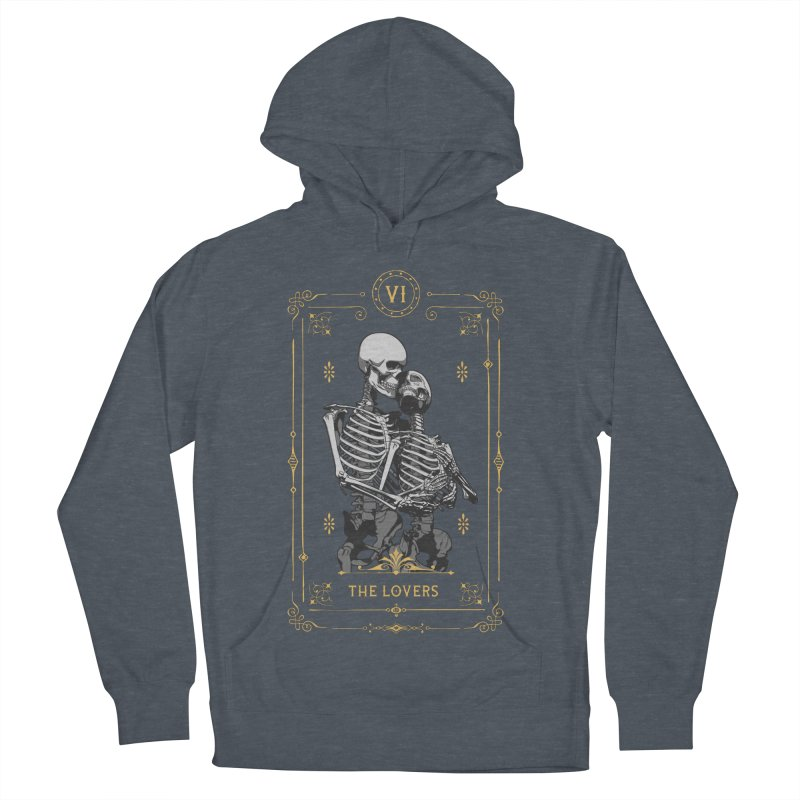 The Lovers VI Tarot Card Men's French Terry Pullover Hoody by Grandio Design Artist Shop