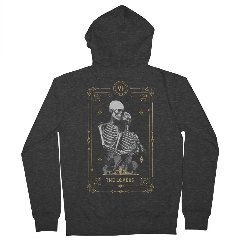 The Lovers VI Tarot Card Women's French Terry Zip-Up Hoody by Grandio Design Artist Shop