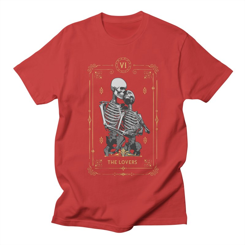 The Lovers VI Tarot Card Women's Regular Unisex T-Shirt by Grandio Design Artist Shop