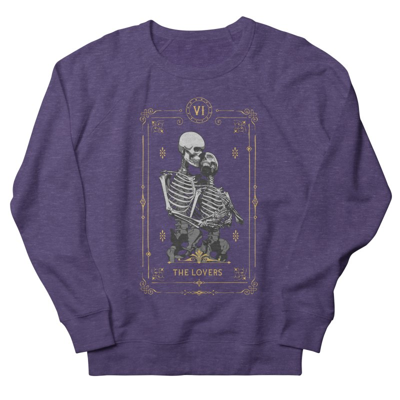 The Lovers VI Tarot Card Women's French Terry Sweatshirt by Grandio Design Artist Shop