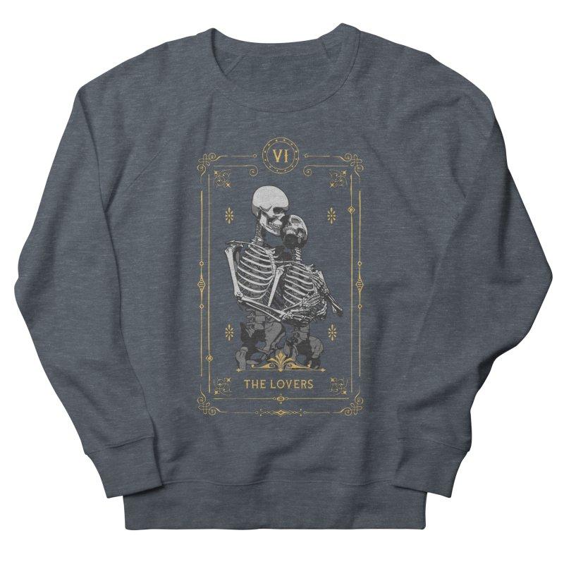 The Lovers VI Tarot Card Men's French Terry Sweatshirt by Grandio Design Artist Shop