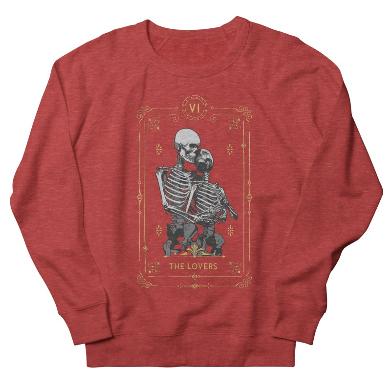 The Lovers VI Tarot Card Men's French Terry Sweatshirt by Grandio Design Artist Shop