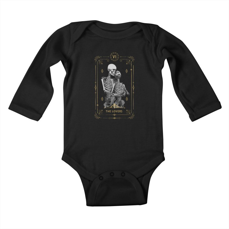 The Lovers VI Tarot Card Kids Baby Longsleeve Bodysuit by Grandio Design Artist Shop