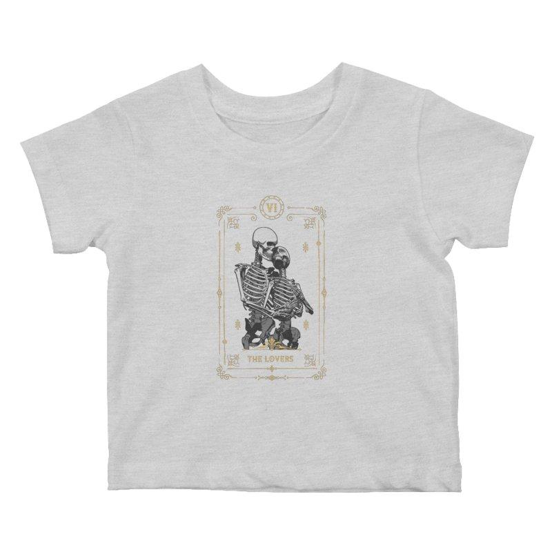 The Lovers VI Tarot Card Kids Baby T-Shirt by Grandio Design Artist Shop