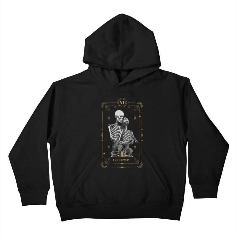 The Lovers VI Tarot Card Kids Pullover Hoody by Grandio Design Artist Shop