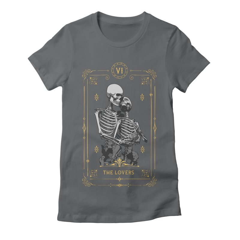 The Lovers VI Tarot Card Women's Fitted T-Shirt by Grandio Design Artist Shop