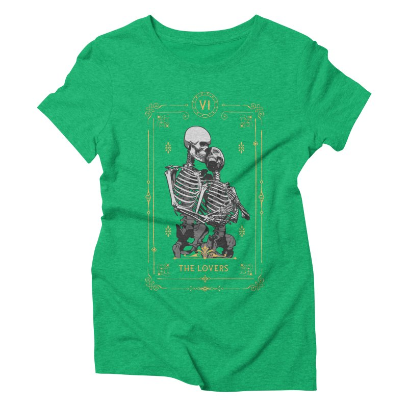 The Lovers VI Tarot Card Women's Triblend T-Shirt by Grandio Design Artist Shop