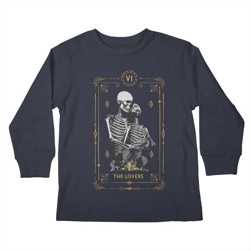 The Lovers VI Tarot Card Kids Longsleeve T-Shirt by Grandio Design Artist Shop