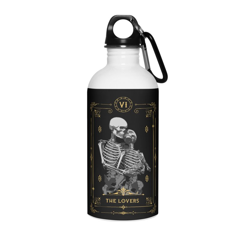 The Lovers VI Tarot Card Accessories Water Bottle by Grandio Design Artist Shop