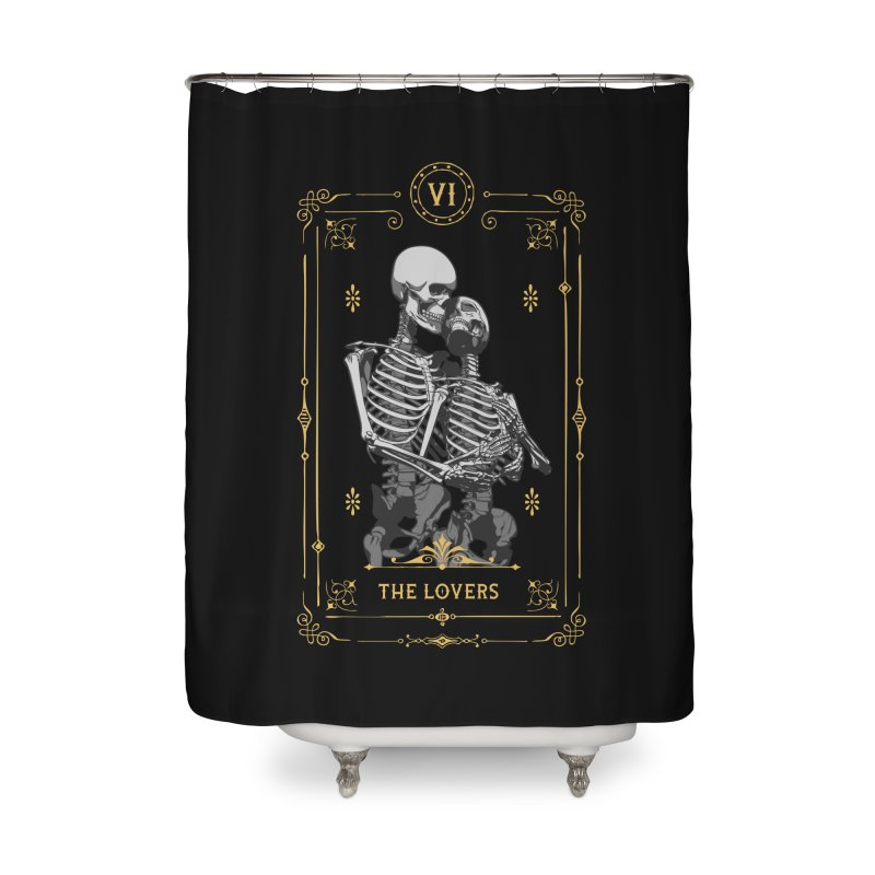 The Lovers VI Tarot Card Home Shower Curtain by Grandio Design Artist Shop