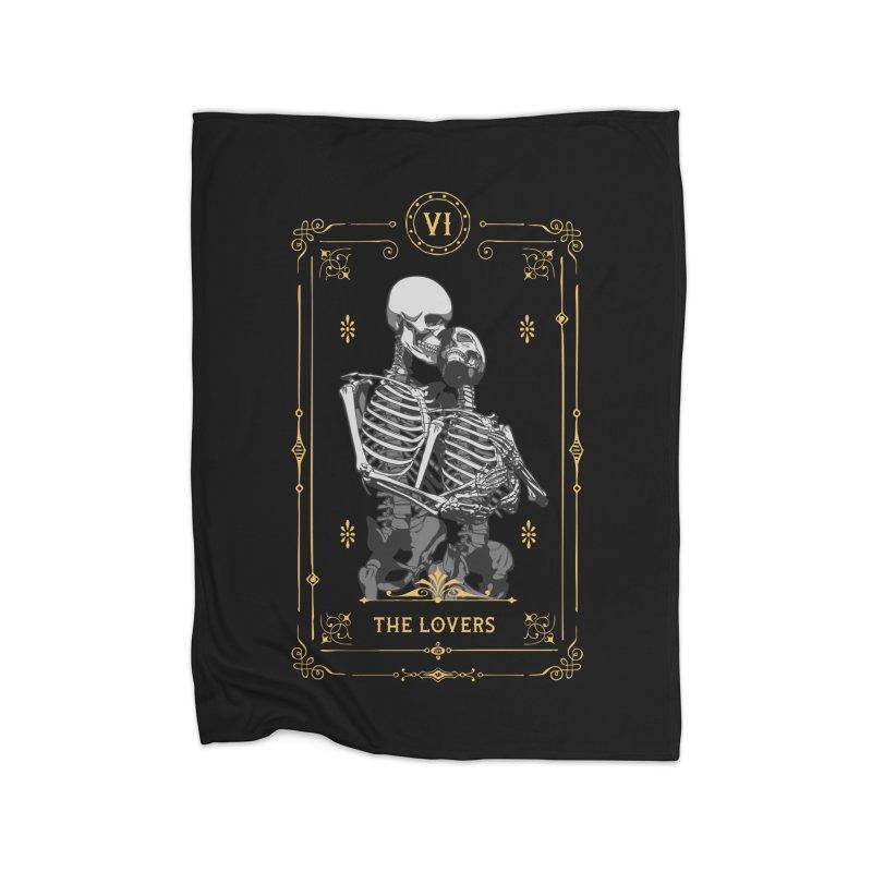 The Lovers VI Tarot Card Home Blanket by Grandio Design Artist Shop