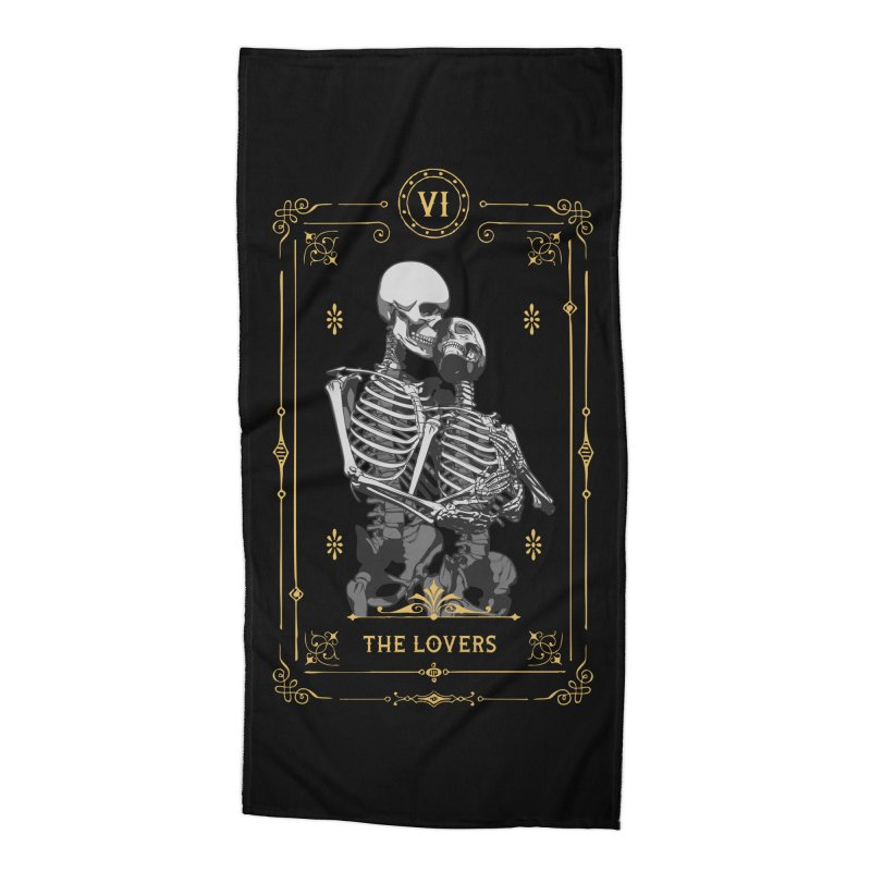 The Lovers VI Tarot Card Accessories Beach Towel by Grandio Design Artist Shop