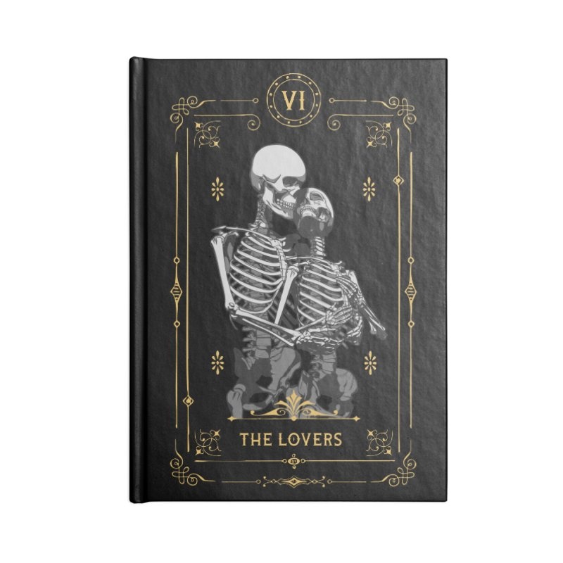 The Lovers VI Tarot Card Accessories Notebook by Grandio Design Artist Shop