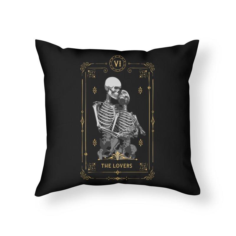 The Lovers VI Tarot Card Home Throw Pillow by Grandio Design Artist Shop