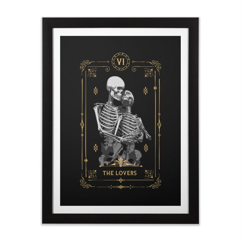 The Lovers VI Tarot Card Home Framed Fine Art Print by Grandio Design Artist Shop