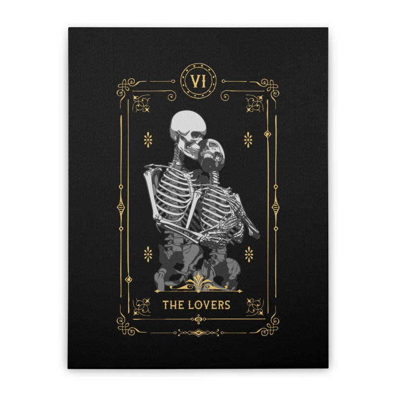 The Lovers VI Tarot Card Home Stretched Canvas by Grandio Design Artist Shop