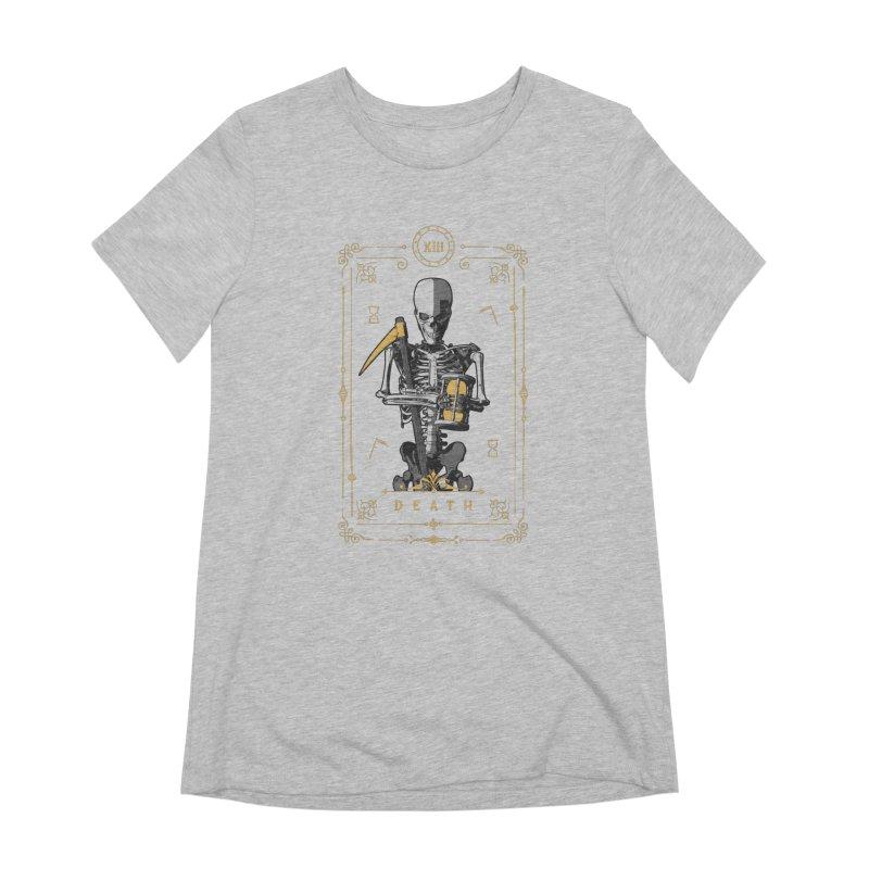 Death XIII Tarot Card Women's Extra Soft T-Shirt by Grandio Design Artist Shop