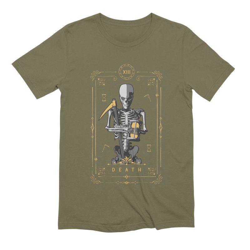 Death XIII Tarot Card Men's Extra Soft T-Shirt by Grandio Design Artist Shop
