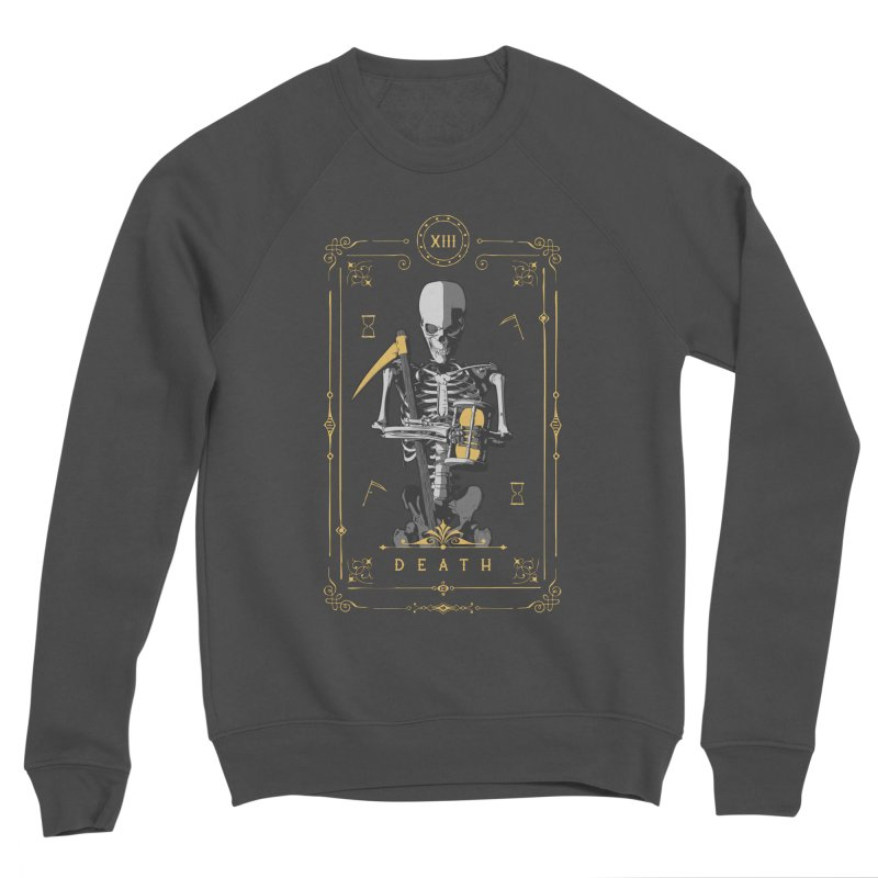 Death XIII Tarot Card Men's Sponge Fleece Sweatshirt by Grandio Design Artist Shop