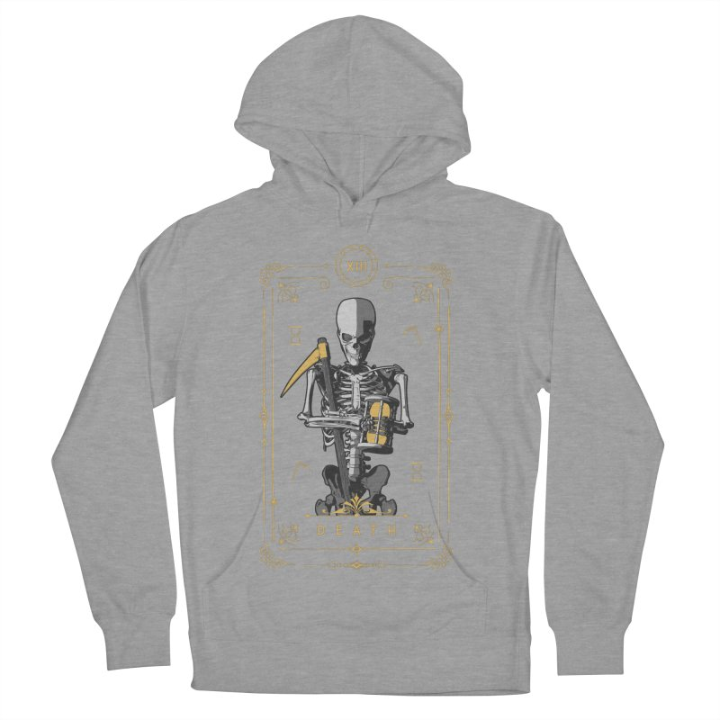 Death XIII Tarot Card Women's French Terry Pullover Hoody by Grandio Design Artist Shop