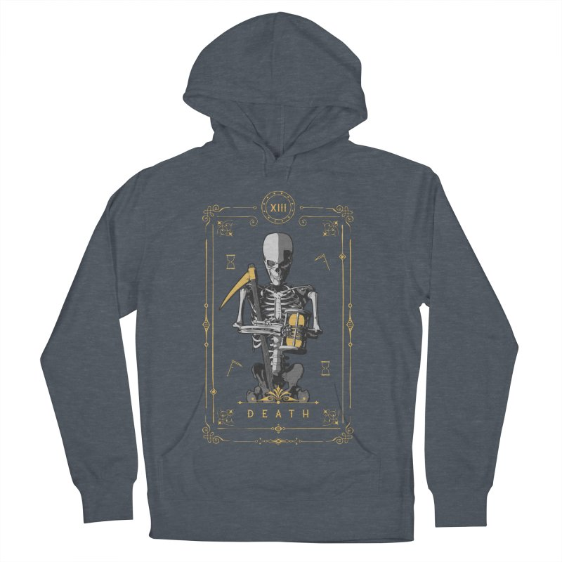 Death XIII Tarot Card Men's French Terry Pullover Hoody by Grandio Design Artist Shop